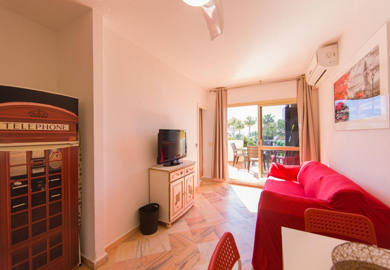 Estudio en Marbella - Romana playa 433, alquiler de larga temporada Elviria
